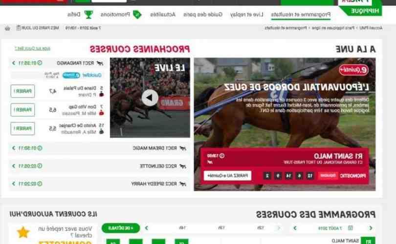Comment jouer au courses de chevaux sur Internet ?